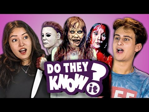 Thumbnail: DO TEENS KNOW 70s HORROR MOVIES? (REACT: Do They Know It?)