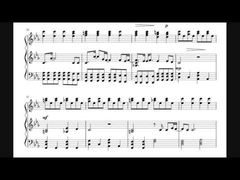 Skyfall - Duet - Piano Sheet Music (James Bond 007)