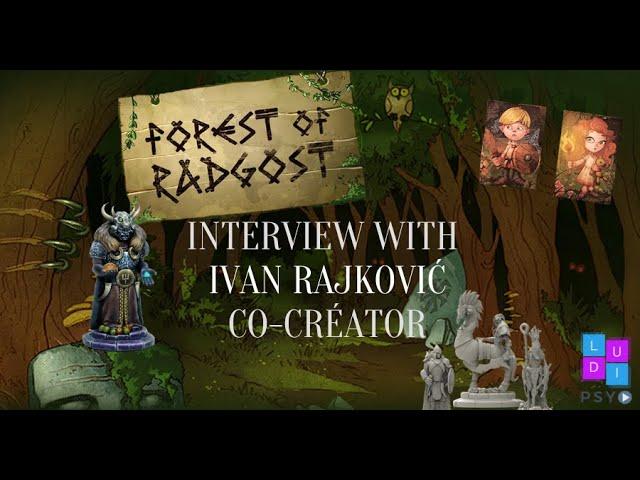 Interview with Ivan Rajković: Kickstarter Forest of Radgost 👑💀 #jeuxdesociété #kickstarter (FR/EN)