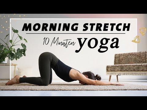 Yoga Morgenroutine für Anfänger | Den ganzen Körper Dehnen & Mobilisieren | 10 Minuten