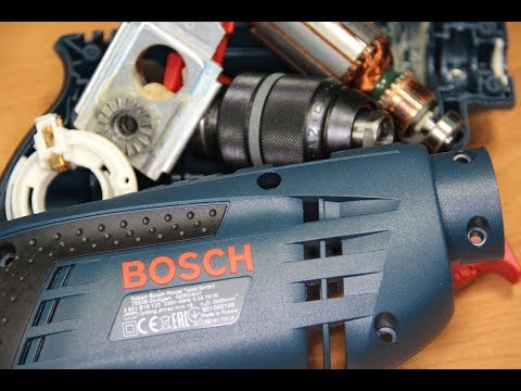 Bosch Professional Дрель Бош GSB 1600 RE /  DRILL REPAIR REVIEW