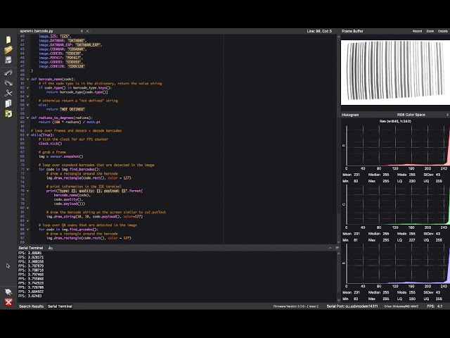 Reading barcodes with Python and OpenMV – InsideNothing