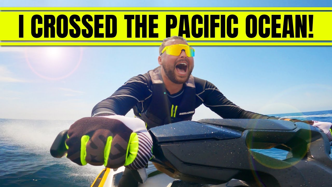 WAS THAT A SHARK?! First OCEAN CROSSING on my SeaDoo!