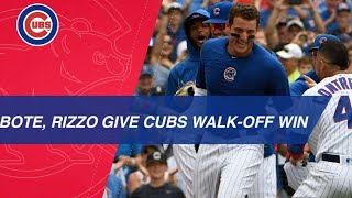 Anthony Rizzo follows David Bote's game-tying home run with walk-off shot