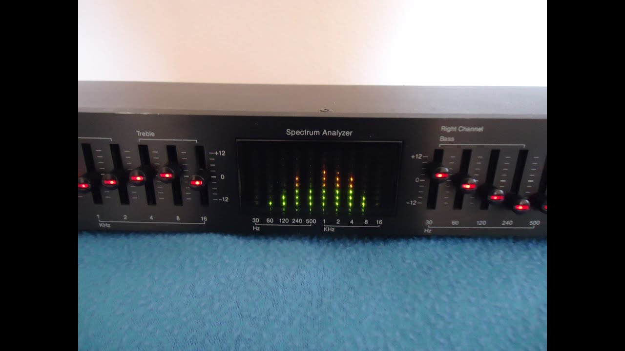 audiosource eq eigth series ii equalizer spectrum analizer rh youtube com AudioSource EQ 101 Audio Source Graphic Equalizer Model 100