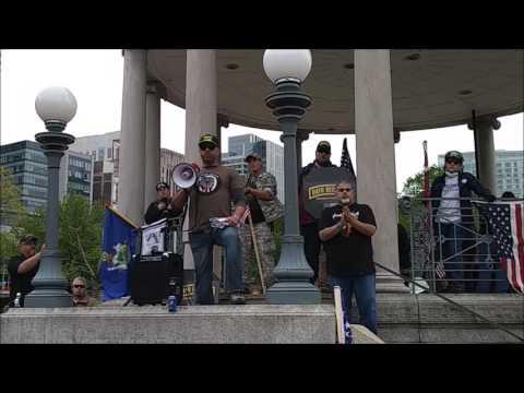 Intense Speech From Kyle Chapman #BasedStickMan #Boston