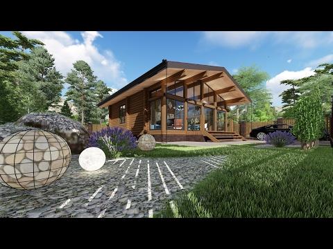 Проект одноэтажного дачного дома из профилированного бруса
