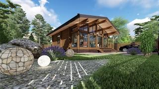 Проект одноэтажного дачного дома из профилированного бруса(, 2017-02-19T11:42:42.000Z)