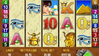 Queen of the Nile Free Spins Retriggered Twice