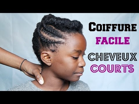 Coiffure Facile Cheveux Afro Courts
