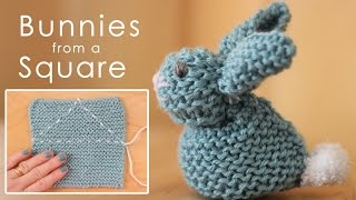 How To Knit A Bunny From A Square: Easy For Beginning Knitters