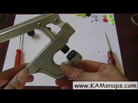 how to use babyville kam snaps gf pliers for size 20 and star caps youtube. Black Bedroom Furniture Sets. Home Design Ideas