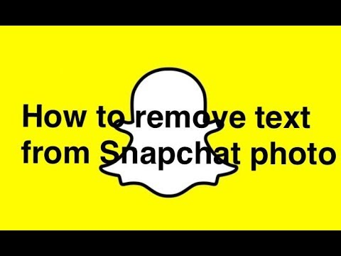 How To Remove Snapchat Caption From Picture 5
