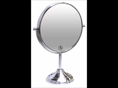 Decobros 8 Inch LARGE Tabletop Two Sided Swivel Vanity Mirror With 7x  Magnification, 13 Inch Height