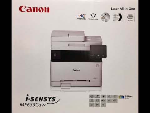 Unboxing Canon I-SENSYS MF633Cdw Multiprinter Colour Laser Printer Scanner Fax Copier Unwrapping