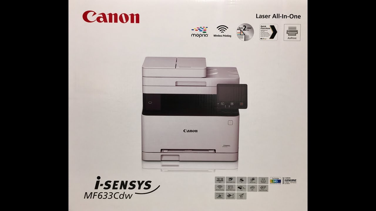 Unboxing Canon I Sensys Mf633cdw Multiprinter Colour La