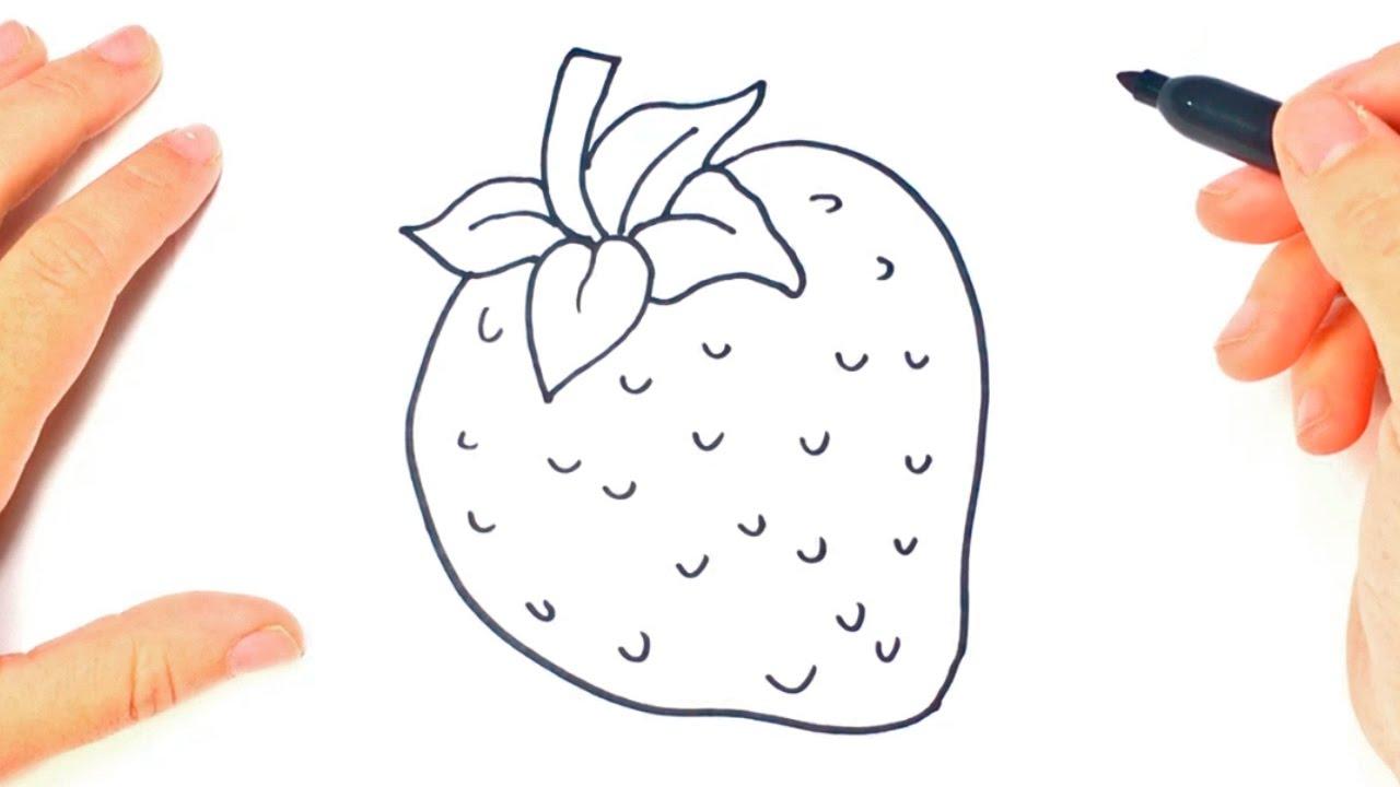 Como dibujar un fresa paso a paso dibujo facil de fresa for Dormitorio para dibujar facil
