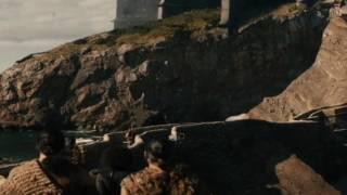 Jon threatening all the men that mention his sister Sansa's name