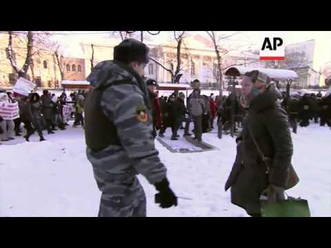 Russian LGBT activists hold rally
