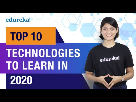 Top 10 Technologies To Learn In 2020 | Trending Technologies In 2020 | Top IT Technologies | Edureka