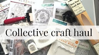 Collective paper craft haul. Stamps, stencils and more
