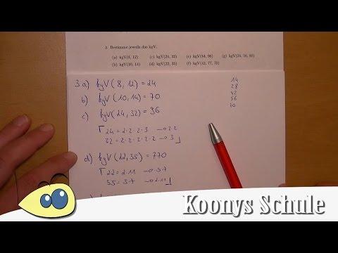 kgV bestimmen, kleinstes gemeinsames Vielfaches   Aufgabe 3 - kgV ...