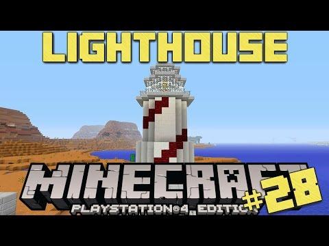 Minecraft PS4 Survival #28 | Lighthouse!