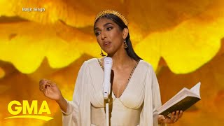 Poet Rupi Kaur brings poetry to new heights with special, 'Rupi Kaur Live' l GMA