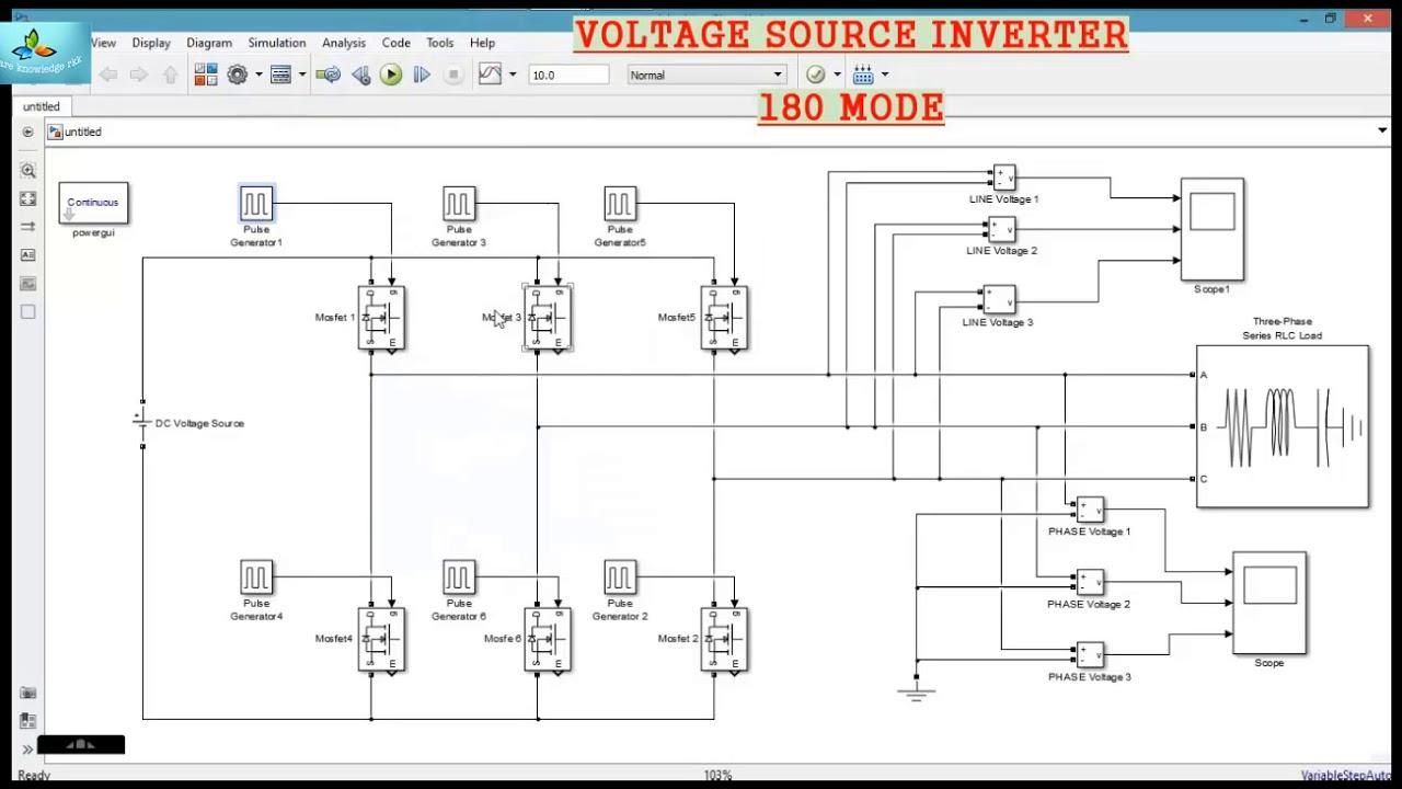 voltage source inverter 3 phase 180 degree