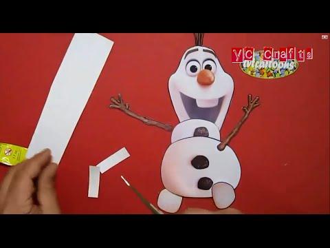 Building A Snowman Frozen Paper Frozen Papercraft Youtube