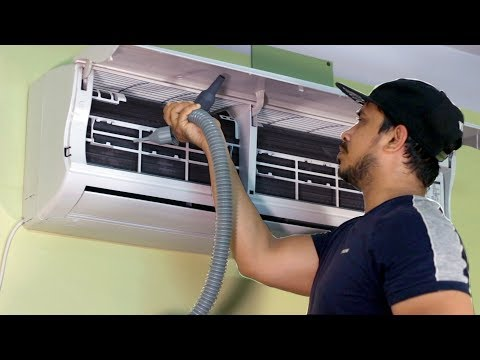 Learn How to Clean an Air Conditioner Servicing AC Cleaning at Home - SMELL FREE AC