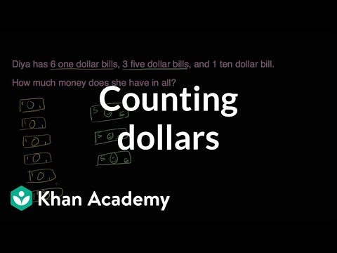 Counting Dollars | Measurement And Data | Early Math | Khan Academy