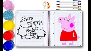 How to Draw Peppa Pig English Episodes  Peppa Pig visits the Aquarium  Peppa Pig Official
