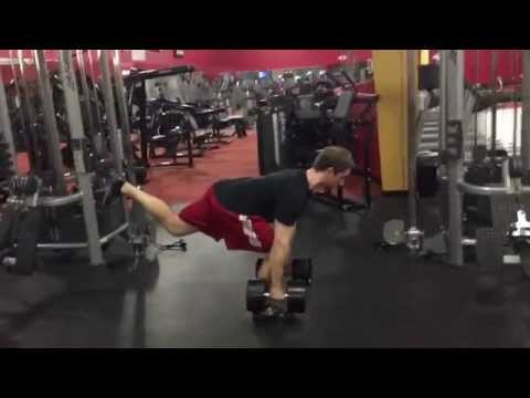 Single Leg RDL's 100 Pound Dumbbells