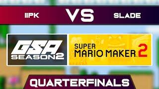 iiPK vs Slade | Playoffs Quarterfinals | GSA SMM2 Endless Mode Speedrun League Season 2