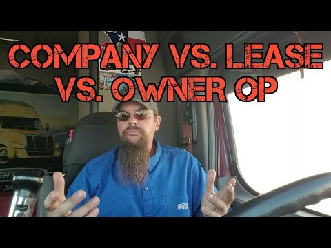 Company vs. Lease vs. Owner op.  The basics.
