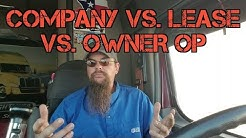 Company vs. Lease vs. Owner op.  The basics.