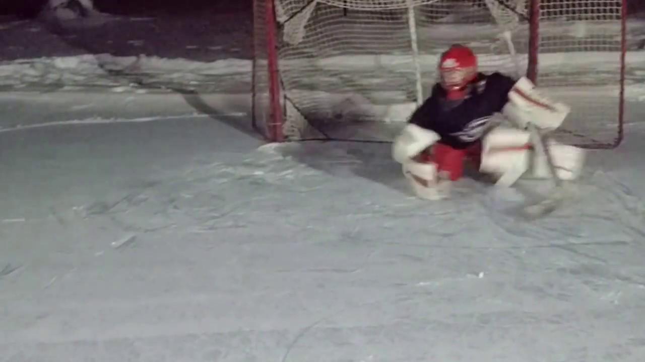 Amazing 8 Year Old Hockey Goalie Drills Grayson Video 1 Youtube