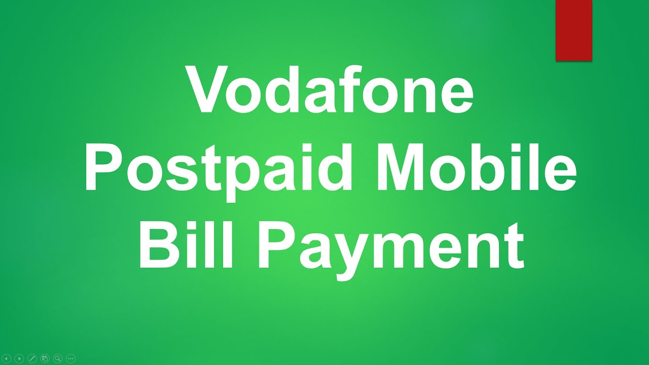 Citibank Online Sign In >> Vodafone Postpaid Mobile Bill Payment - YouTube