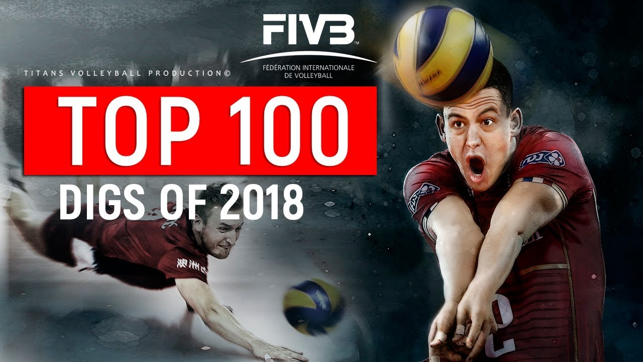 FIVB's Top 100 Digs of 2018