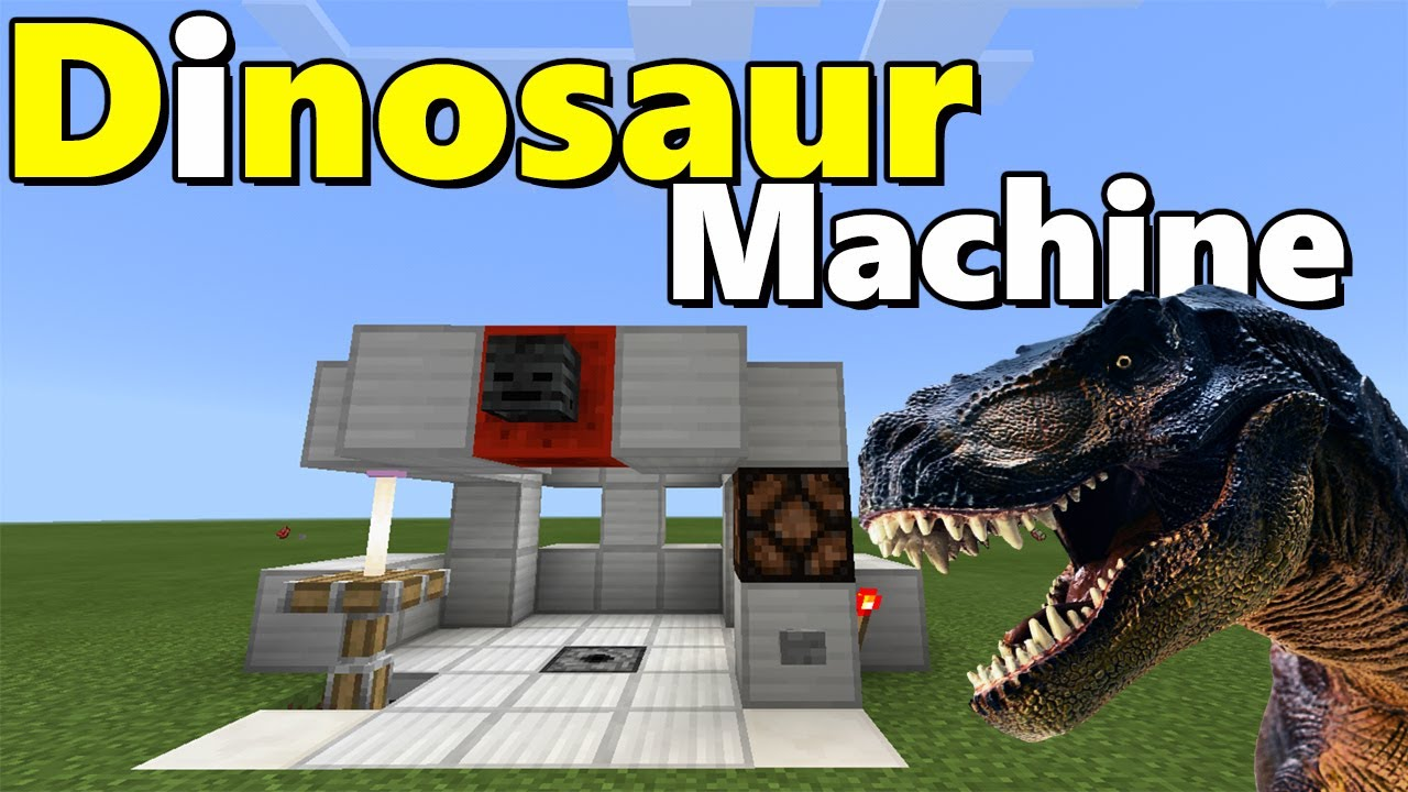 DINOSAUR MACHINE TUTORIAL | Minecraft PE (Pocket Edition) Jurassic Craft  Addon