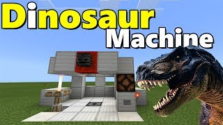 DINOSAUR MACHINE TUTORIAL | Minecraft PE (Pocket Edition) Jurassic Craft Addon