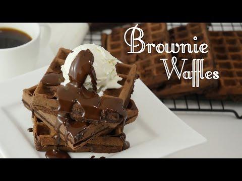 Brownie Waffles I Leckere Schokoladenwaffeln Schokowoche Teil 1
