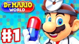 Dr. Mario World - Gameplay Walkthrough Part 1 - Intro and Levels 1-20 3-Star! (iOS)