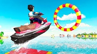 Jet Ski Water Simulator - water surfing bike race game