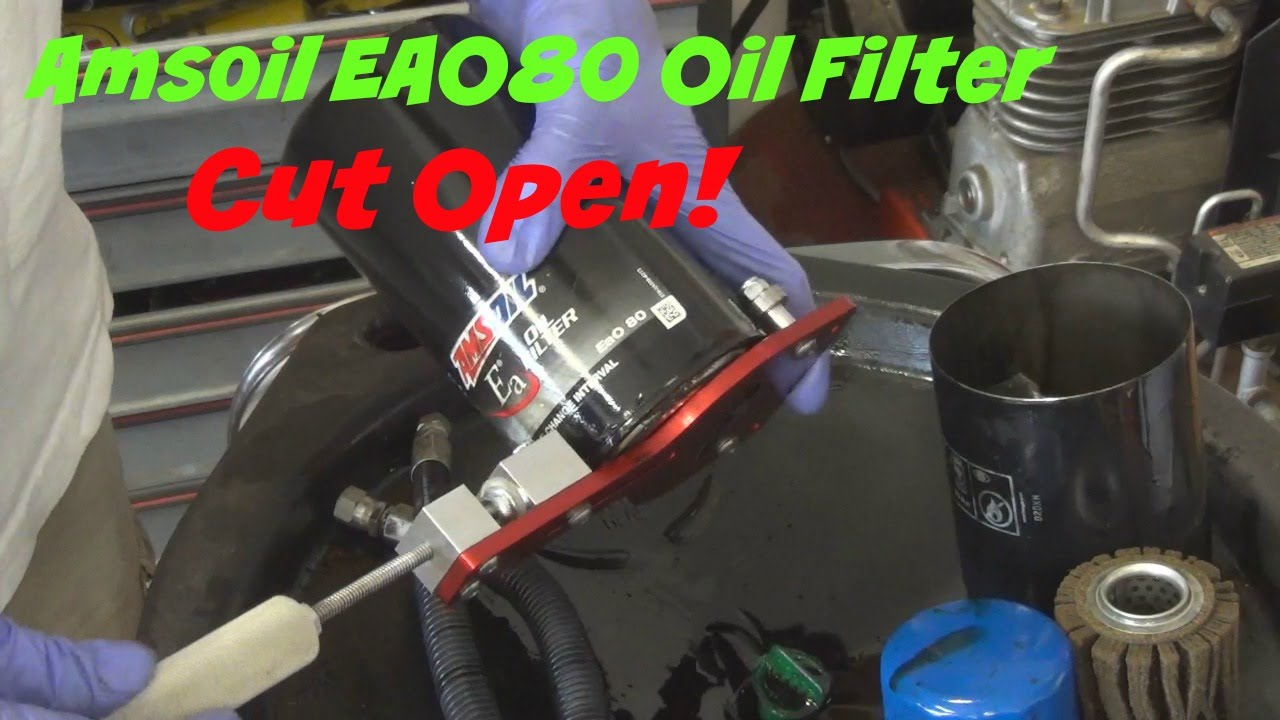 small resolution of amsoil eao80 oil filter cut open from a 2001 dodge ram 2500 cummins turbo diesel
