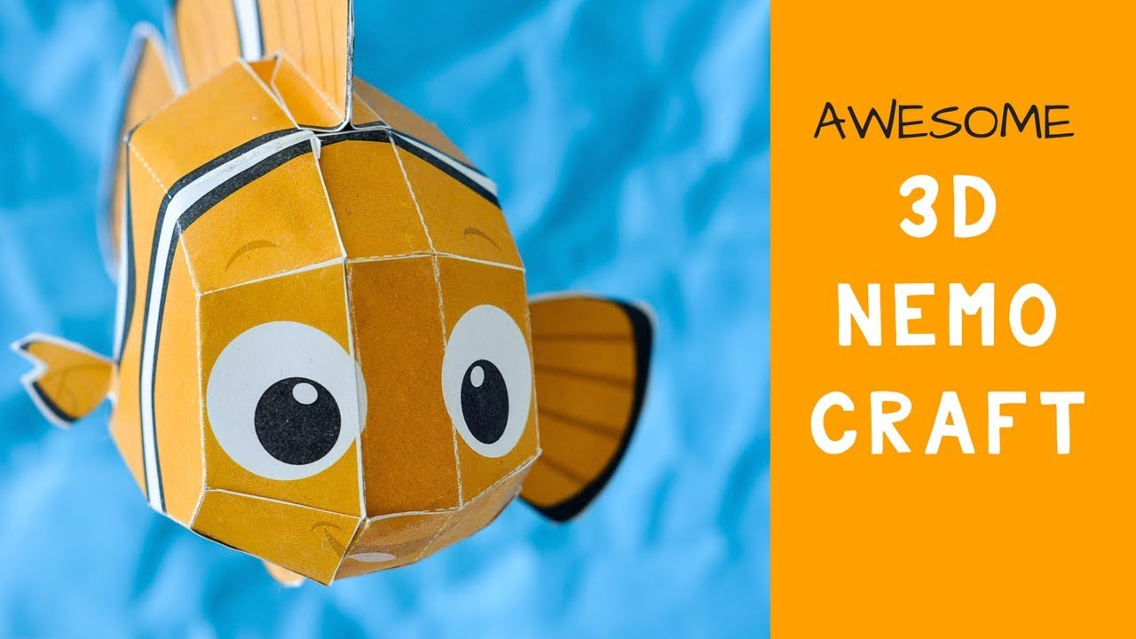 Disney S Finding Nemo Paper Craft Free Templates