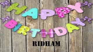 Ridham   wishes Mensajes