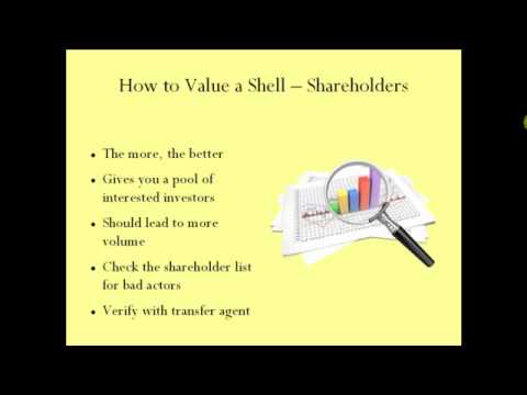 How to Value a Reverse Merger Shell -- www.reverse-merger.info