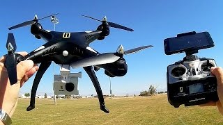 Huanqi HQ H899 Large Camera Drone with FPV Flight Test Review